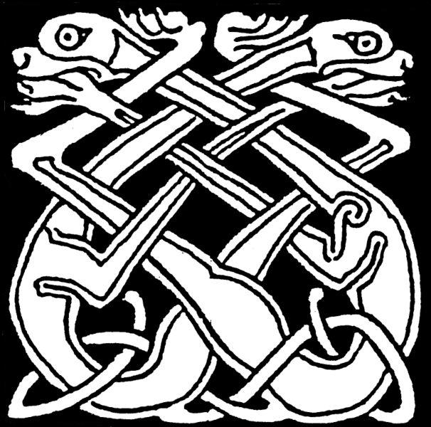Celtic knot dogs